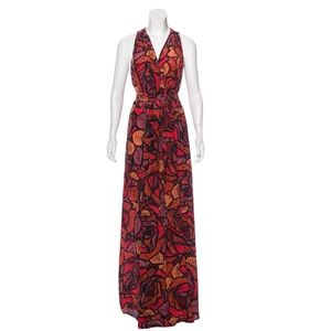 RACHEL ZOE Silk Floral Praire Maxi Dress